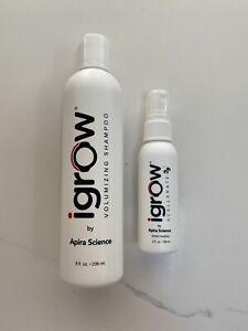 iGrow Volumizing Shampoo 8 OZ + Xcellerate Hair Growth Spray 2 OZ (New)