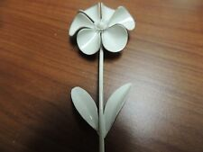 Vintage WEISS signed Large enameled floral brooch in creamy beige.  NICE!