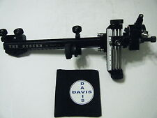 "4"" DAVIS TARGET SIGHT- Double knob mount --black/ black knobs-scope .010 red"