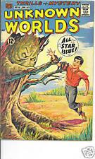 Unknown Worlds #56 FN/VFN 1967 Dracula Frankenstein monster ACG scarce US comics