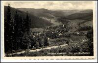 Manebach Thüringen DDR Ansichtskarte 1957 gelaufen Blick vom Goethe Pfad