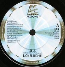 "LIONEL RICHIE sela/serves you right LIO 4 uk motown 1986 7"" WS EX/"