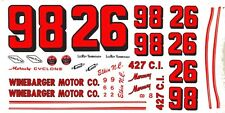 #98 Leroy Yarobrough Winebarger Motor Co. 1/32nd Scale Slot Car Decals