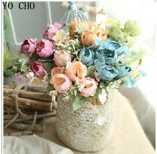 Rose Peony Artificial Fake Silk Flowers Small Bouquet Home Party Wedding Decora