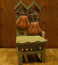 "Boyds Teddy Bear/Doll Furniture #65598-1 HOLDEN'S PUMKIN CHAIR, 10.25"" Accessory"