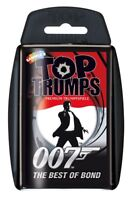 Top Trumps 007 Quartettspiel The best of James Bond Quartett Kartenspiel Spiel