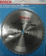 """Bosch CBCL1040 10"""" x 40 Tooth ATB Ultra Thin Kerf General Purpose Saw Blade"""