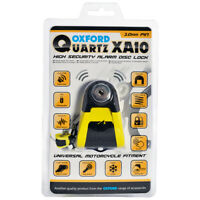 Oxford Quartz Alarm XA10 Motorcycle Motorbike Disc Lock 10mm Pin Yellow/Black