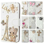 Cute Bling Diamond Leather Flip Wallet Stand Card Case for iPhone 12 Pro Max 11