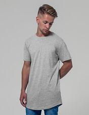 Hombre Long Tee Camiseta de Manga Corta Largo Algodón 140 G/M ² S-XXL