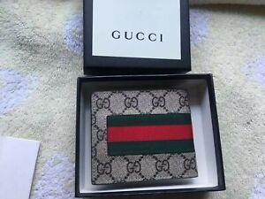 Authentic Men Gucci  Leather Wallet  #508