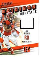 JOE MIXON 2019 PANINI PRESTIGE GRIDIRON HERITAGE PLAYER WORN MATERIAL CARD GH-JM