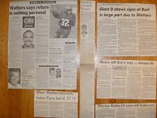Ricky Watters Card + 49ers Seahawks Philadelphia Eagles Newspaper Clipping lot