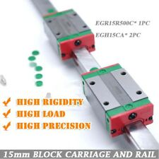 HIWIN EGR15 L500mm Linear Guide Rail + 2Pcs EGH15CA Block Carriages Engraving