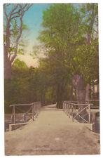 AK Bitterfeld, Piltzbrücke mit Binnengärtenweg -- um 1916