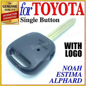 For Toyota Remote Key Shell Case Estima Noah Alphard Voxy - One Button