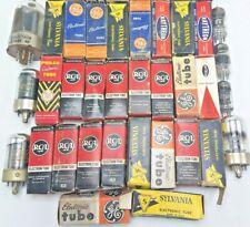 Huge Lot 25+ Vintage Electronic Vacuum Tubes Many NOS !! Philco RCA Sylvania GE
