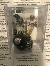 Willie Parker Pittsburgh Steelers Mini Helmet Card Display Collectible Auto Fast