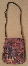 Vintage HAT-MEN PURSE HAND BAG - Made in TURKEY - TAPESTRY / UPHOLSTERY FABRIC