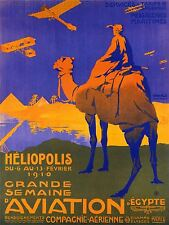 ART PRINT POSTER ADVERT EVENT AIR SHOW EGYPT CAMEL PYRAMID NOFL1605