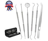 Dental Tools, Complete Stainless Steel 6 PACK Pick Floss , Hygiene Tool...