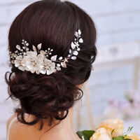 1PC Bridal Princess Pearl Tiara Bridal Hair Accessories Handmade Wedding Crown~