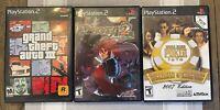 Sony Playstation 2 PS2 DISGAEA 2: Cursed Memories; Grand Theft Auto III 3 Lot +