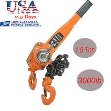 1-1/2 TON LEVER BLOCK HOIST CHAIN RATCHET COME ALONG CHAIN HOIST Safe Use