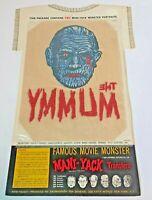Vintage 1964 Mummy Mani-Yack Universal Monsters 2 Iron On Transfers Boris Karlof