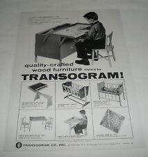 1959 toy trade ad ~ Transogram CHILDREN'S FURNITURE crib, cradle, desk, more