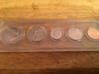 2018 P Mint Set, Birth Set in New EM Holder; 5 BU Coins; Half Dollar - Penny