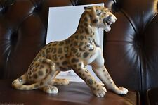 Extremely Rare Bing & Grondahl B&G Leopard Figurine Sculpture Royal Copenhagen