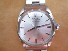 VINTAGE ROLEX AIR KING 5500 AUTOMATIC 1960´S - RIVETED OYSTER BRACELET -WITH BOX