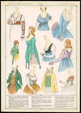 C1920 antica stampa francese Corpetto mazzolini di FIORI moda donna chemise perizoma (66)