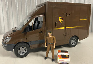 """Bruder Made In Germany   Sprinter UPS Truck Toy 2006 17"""" Long"""