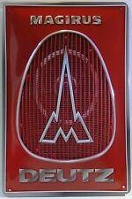 Magirus Deutz Logo, Tin Sign Truck