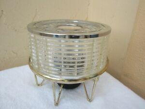 Vintage 1960's Mid century Modern SILEX Glass Candle Warmer Coffee Tea W/ Stand