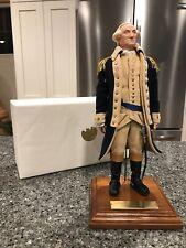 George Washington Living Image Doll | Us Historical Society | 12� | Stand & Box