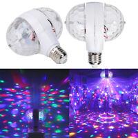 6W E27 LED RGB Crystal Ball Rotating Stage Light Bulbs DJ Disco Xmas Party Lamp