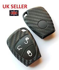 MERCEDES BENZ KEY CLK CL CLS SLK ML E S C CLASS REMOTE SMART FOB COVER CARBON 2