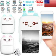 Mini Thermal Printer Photo Pocket Printer Wireless Bluetooth Portable Printing