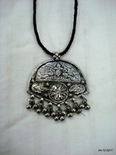 Necklace Peacock & Ganesha Traditional Design Sterling Silver Pendant