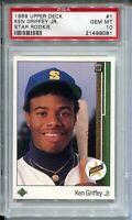 1989 Upper Deck Baseball #1 Ken Griffey Jr Rookie Card Graded PSA Gem Mint 10