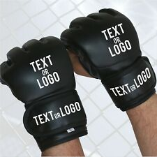 Personalised Customised MMA Gloves Custom Made Sparring Boxing Training UFC 4885