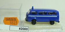 """(2000-216) Brekina 3323 VW T2 Bus """"THW"""" top OVP"""