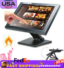 """15"""" LCD TFT-Touch Screen Monitors USB VAG LCD Display POS Stand retail Cash USA"""