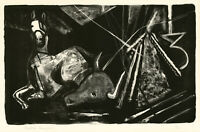 RALSTON CRAWFORD, 'TORO AND HORSE', signed lithograph, 1957.