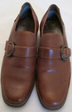 Mephisto Mens Brown Leather Air-Jet Insole Slip on Adjustable Strap Shoes SZ 10
