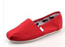 Fashion Women Classics TOM Loafers Canvas Slip-On Flats shoes Size 6-10