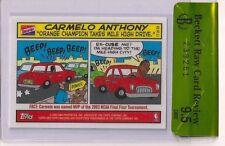 2003-04 Topps Bazooka RC CARMELO ANTHONY Knicks Rookie Comics card BGS 9.5